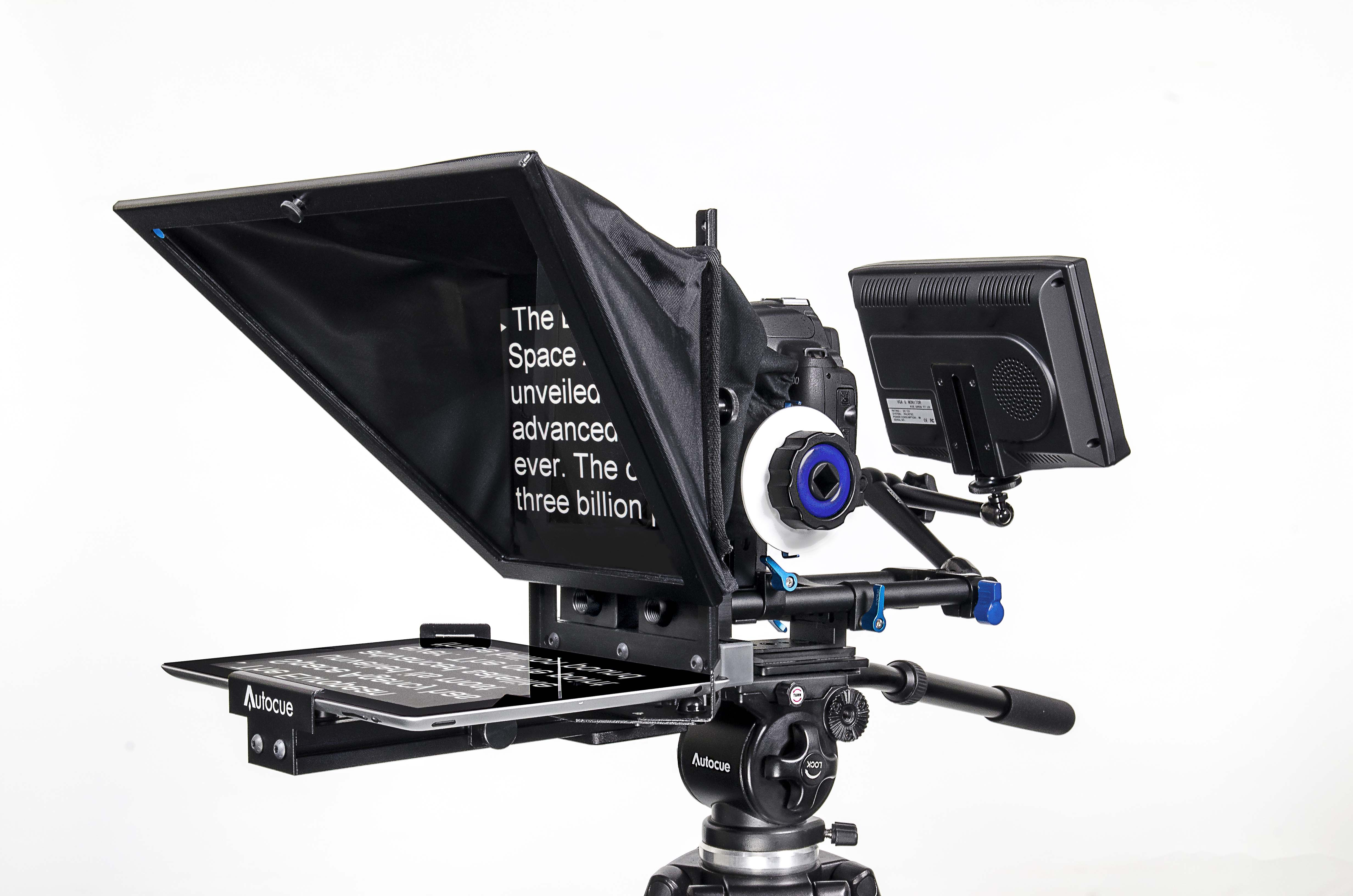 The proper use of a Teleprompter for morning announcements© autocue